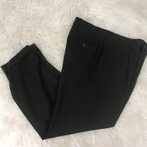 Giorgio Armani brown cuffed wool dress pants Sz 34